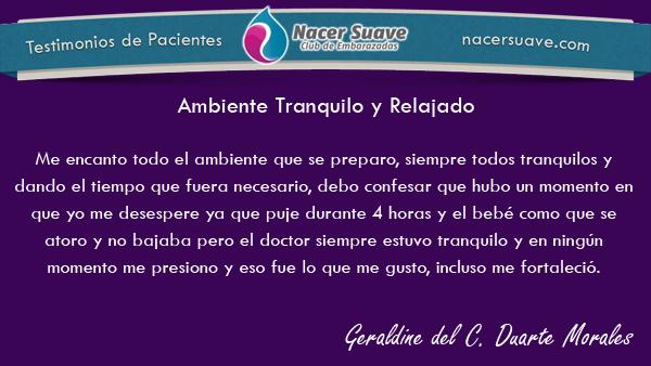 Testimonio 11 - Geraldine del C